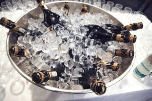 champagne auf eis